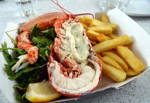 Lobster 'n chips