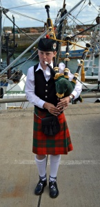 Young piper at Pittenweem Arts Festival