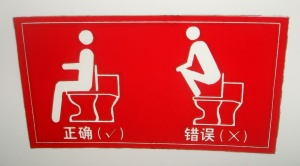Using a loo in China
