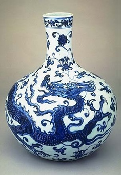 ming dynasty vase with dragon