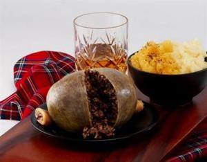 Haggis and whiskey