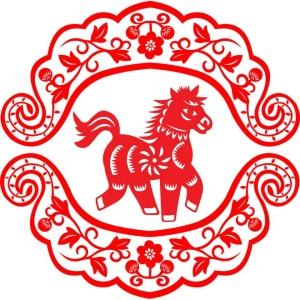 Horse papercut