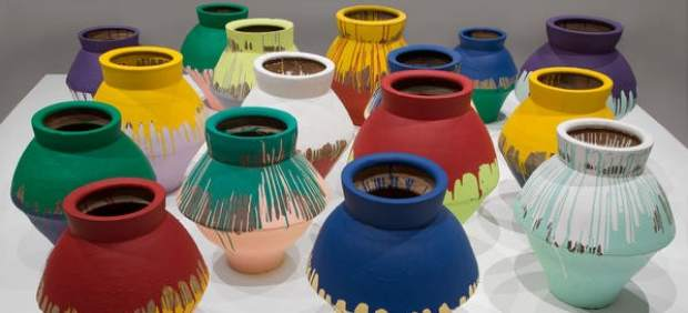 AWW  painted vase exhibit