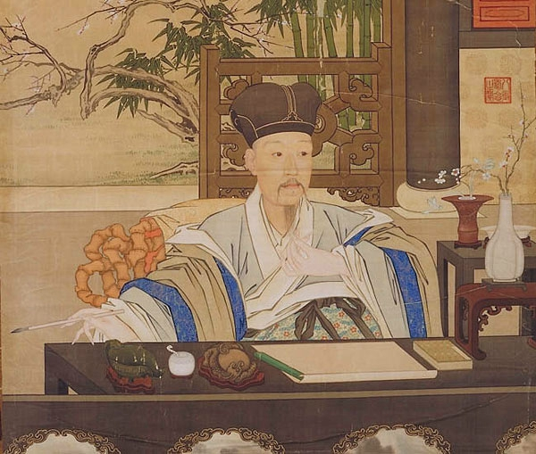 Emperor Qianlong in his study. Painting by Giuseppe Castiglione; 18th century; The Palace Museum Beijing