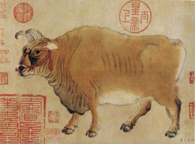 Chinese painting - cow