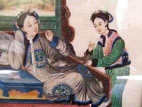 Chinese painting - two women