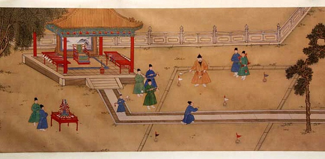 Ming Emperor Xuande playing Chuiwan - Chinese Golf
