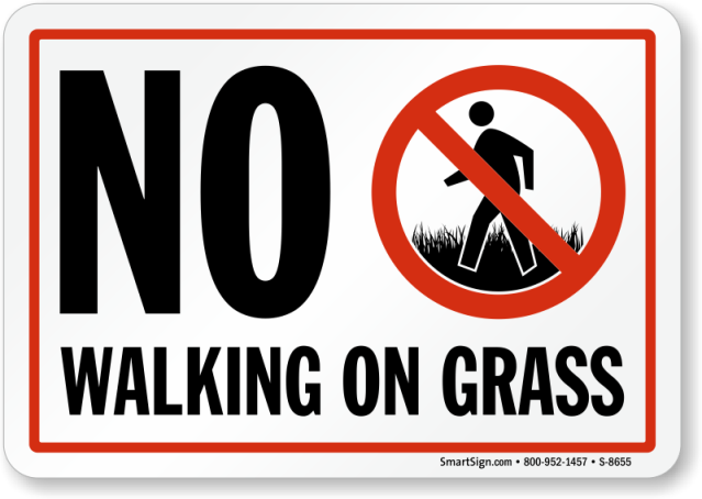 no-walking-on-grass-sign-s-8655